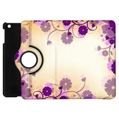 Background Floral Background Apple Ipad Mini Flip 360 Case