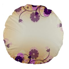 Background Floral Background Large 18  Premium Round Cushions