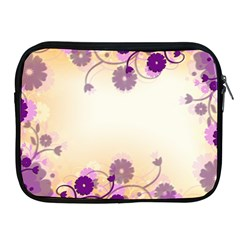 Background Floral Background Apple Ipad 2/3/4 Zipper Cases