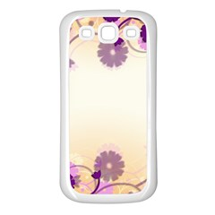Background Floral Background Samsung Galaxy S3 Back Case (white)