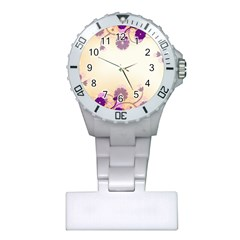 Background Floral Background Plastic Nurses Watch