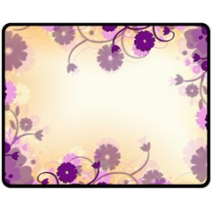 Background Floral Background Double Sided Fleece Blanket (medium)