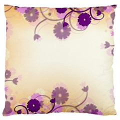 Background Floral Background Large Flano Cushion Case (one Side)
