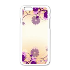 Background Floral Background Apple iPhone 6/6S White Enamel Case