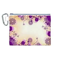 Background Floral Background Canvas Cosmetic Bag (l)