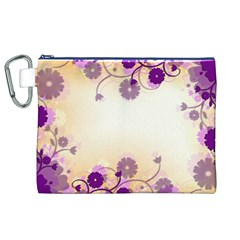 Background Floral Background Canvas Cosmetic Bag (xl)