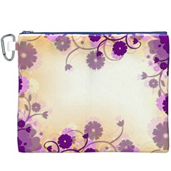 Background Floral Background Canvas Cosmetic Bag (xxxl)