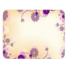 Background Floral Background Double Sided Flano Blanket (large)