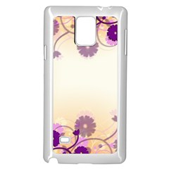 Background Floral Background Samsung Galaxy Note 4 Case (white)