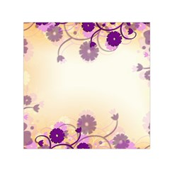 Background Floral Background Small Satin Scarf (Square)
