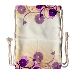 Background Floral Background Drawstring Bag (large)