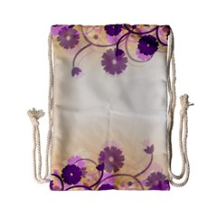 Background Floral Background Drawstring Bag (small)