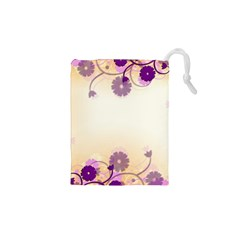 Background Floral Background Drawstring Pouches (XS)