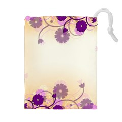 Background Floral Background Drawstring Pouches (extra Large)