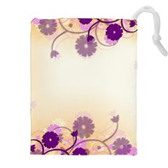 Background Floral Background Drawstring Pouches (xxl)