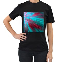 Background Texture Pattern Design Women s T Shirt (black) (two Sided)