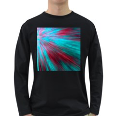 Background Texture Pattern Design Long Sleeve Dark T Shirts
