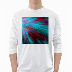 Background Texture Pattern Design White Long Sleeve T Shirts