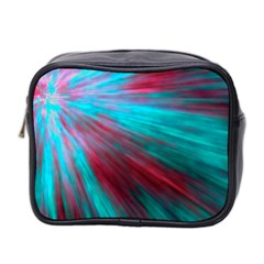 Background Texture Pattern Design Mini Toiletries Bag 2 Side