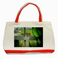 Butterfly #17 Classic Tote Bag (red)