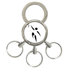 Aéroball Pictogram 3 Ring Key Chains