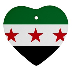 Flag Of Syria Heart Ornament (two Sides)