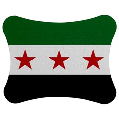 Flag of Syria Jigsaw Puzzle Photo Stand (Bow)