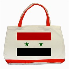 Flag Of Syria Classic Tote Bag (red)