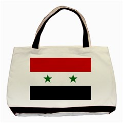 Flag Of Syria Basic Tote Bag (two Sides)