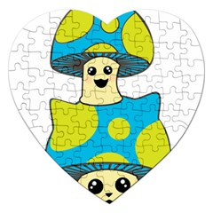 Meowshroom Jigsaw Puzzle (heart)