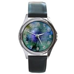 Background Texture Structure Round Metal Watch