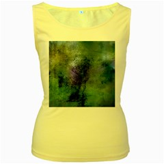 Background Texture Structure Women s Yellow Tank Top