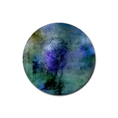 Background Texture Structure Rubber Round Coaster (4 Pack)