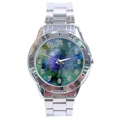 Background Texture Structure Stainless Steel Analogue Watch