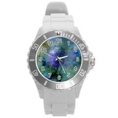 Background Texture Structure Round Plastic Sport Watch (l)