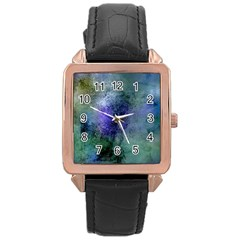 Background Texture Structure Rose Gold Leather Watch