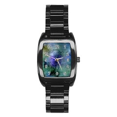 Background Texture Structure Stainless Steel Barrel Watch