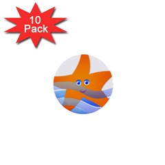 Beach Sea Sea Shell Swimming 1  Mini Buttons (10 pack)