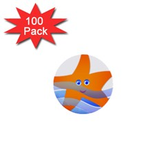 Beach Sea Sea Shell Swimming 1  Mini Buttons (100 Pack)