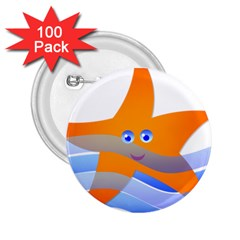 Beach Sea Sea Shell Swimming 2 25  Buttons (100 Pack)