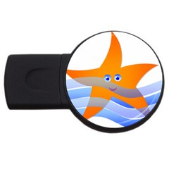 Beach Sea Sea Shell Swimming Usb Flash Drive Round (2 Gb)