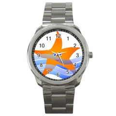 Beach Sea Sea Shell Swimming Sport Metal Watch