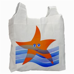 Beach Sea Sea Shell Swimming Recycle Bag (one Side)