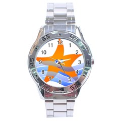 Beach Sea Sea Shell Swimming Stainless Steel Analogue Watch