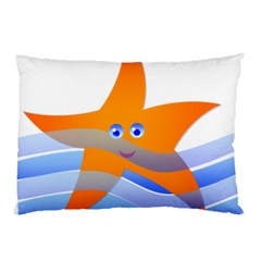 Beach Sea Sea Shell Swimming Pillow Case (two Sides)
