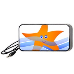 Beach Sea Sea Shell Swimming Portable Speaker (black)
