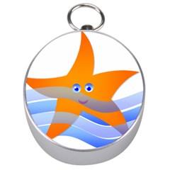 Beach Sea Sea Shell Swimming Silver Compasses