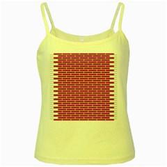 Brick Lake Dusia Texture Yellow Spaghetti Tank