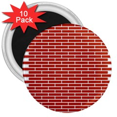 Brick Lake Dusia Texture 3  Magnets (10 Pack)
