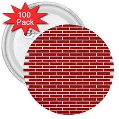 Brick Lake Dusia Texture 3  Buttons (100 Pack)